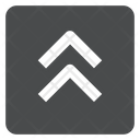 Up Chevrons Square Icon