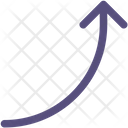 Up Curved Arrow Icon
