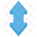 Up Down Arrow Double Up Icon