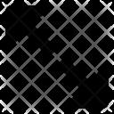 Up Down Diagonal Icon