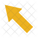 Up Left Arrow Sign Direction Icon