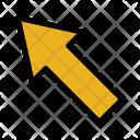 Up Left Arrow Pointer Left Icon