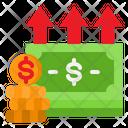 Up Money Value Icon