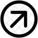 Arrow Material Up Right Icon