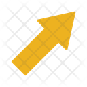 Up Rigth Arrow Sign Direction Icon
