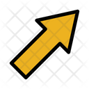 Up Rigth Arrow Pointer Right Icon