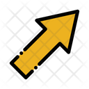 Arrow Up Rigth Arrow Sign Icon
