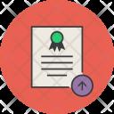 Upload Export Certificate Icon