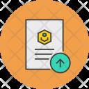 Upload Send Document Icon