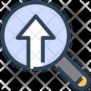 Seo Magnify Glass Upload Icon