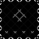 Arrow Square Top Mini Upload Up Icon