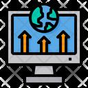 Upload Deployment Worldwide Icon