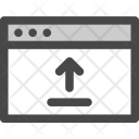Upload Arrow Browser Icon