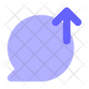Upload-chat-bubble Icon