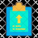 Clipboard Upload Document Icon