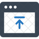 Upload Data Browser Internet Icon