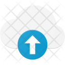 Upload data in cloud Icon