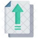 Upload Document Arrow Note Icon