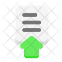 Upload Up Data Icon