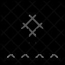 Arrow Square Top Mini Upload File Upload Icon