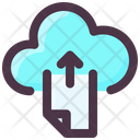 Internet Technology Upload File To Cloud Upload To Cloud Icon