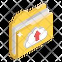 Upload Folder Data Uploading Data Storage Icon