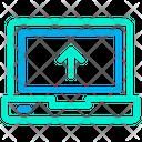Laptop Computer Upload Icon
