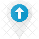 Up Pin Geolocation Icon