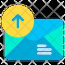 Upload Uploading Mail Icon