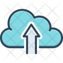 Upload To Cloud Hosting Internet Icon