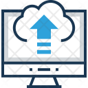 Cloud Upload Arrows Icon