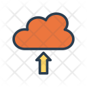 Cloud Upload Database Icon