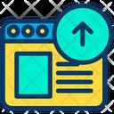Online Upload Online Uploading Web Icon