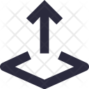 Arrow Up Uploading Icon