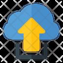 Uploading Data To Cloud Upload Data To Cloud Uploading Data Icon