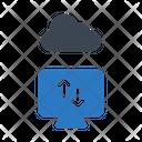 Uploading On Cloud Icon