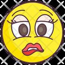 Upset Emoji Sad Expression Emotag Icon