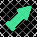 Upward Right Arrow Icon