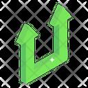 Upward Turn Arrows Icon