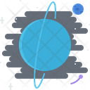 Uranium Planet Space Icon