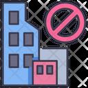 Coronavirus City Virus Icon
