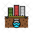 Urban Drainage Line Icon