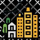 Urbanization Climate Change City Icon