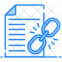 Linked Paper Linked Document Linked Text Icon
