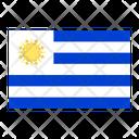 Uruguay Flag Country Icon