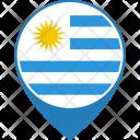 Uruguay Flag World Icon