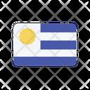 Uruguay Uy Flag Country Icon
