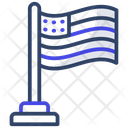 Us Flag Flagpole National Flag Icon