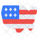 Us Flaglet Flagpole National Flag Icon
