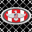 Eagle Oval Label Icon